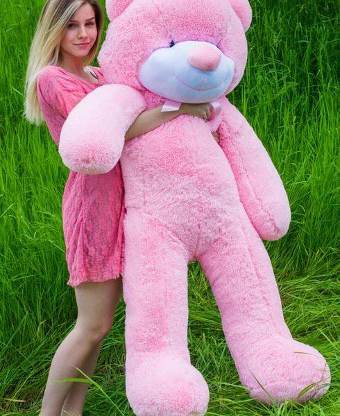 розовый мишка Рафаэль 160см