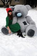 Огромный плюшевый медведь Тедди