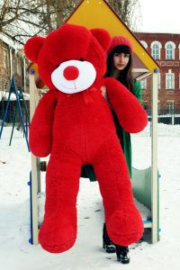 Красный большой плюшевый мишка рафаэль 160см