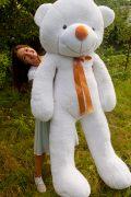купить большого плюшевого мишку Рафаэль 200см белого