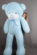 Купить большого плюшевого мишку голубого