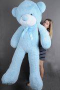 купить голубую мягкую игрушку медведь большой